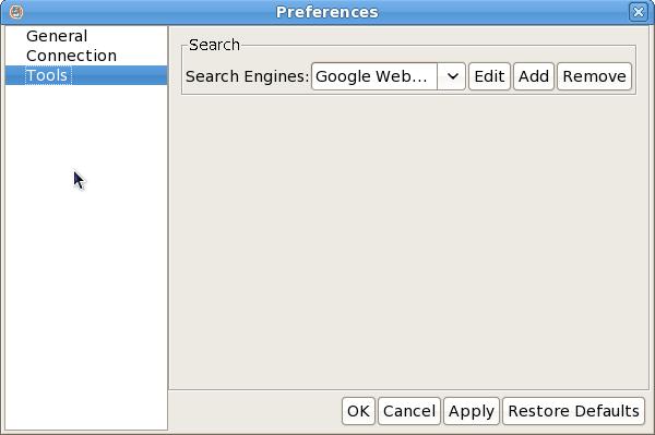 Lobo Java Browser. Motores de busqueda
