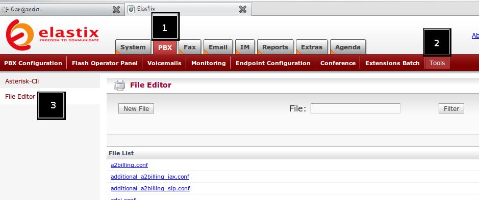Acceso archivo extension_custom.conf