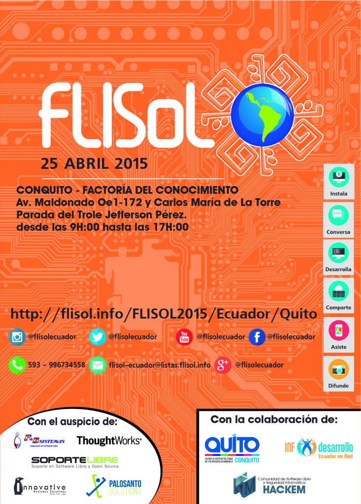 Afiche del Flisol 2015